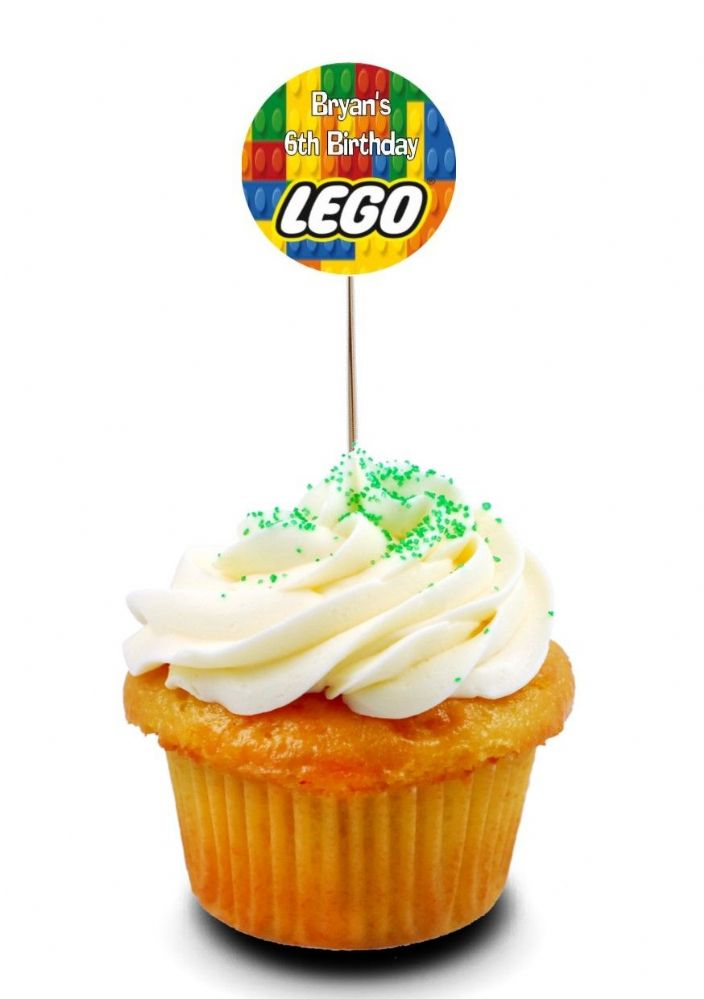 Lego Cupcake Picks Toppers